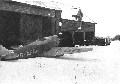 A wintery scene outside the hangar at High Trees 1939, photo courtesy of Constance Ward.